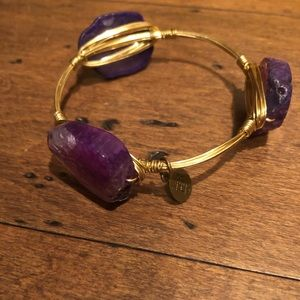 Bourbon and Bow ties purple stone bangle